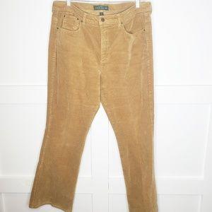 Ralph Lauren Camel Corduroy Plus Size Pants 16